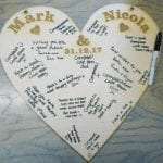 ** PERSONALISED WOODEN HEART **