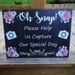 Oh Snap! Photo Wedding Sign