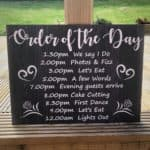 Large Order Of The Day Wedding Sign - Design 2