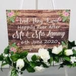 And They Lived Happily Ever After Personalised Wedding Sign