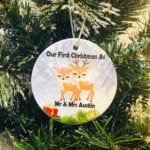First Christmas As Mr & Mrs Surname Bauble