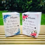 Personalised Mothers Day Candle - Available In 6 Different Flower Designs