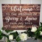 New Rustic Welcome Sign - WITH HEARTS