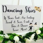 Dancing Shoes Wedding Sign