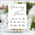 Black / White Dancing Shoes Sign - (A4 Size)