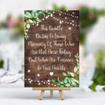 New Rustic Heaven Remembrance Sign - Printed Lights / Greenery