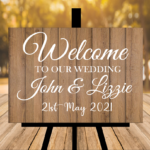 New Rustic Light Brown Welcome Sign - No Flowers