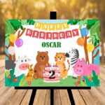 Personalised Animal Birthday Sign - Any Age