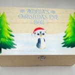 New Wooden Penguin Christmas Eve Box - Any Colour Wording